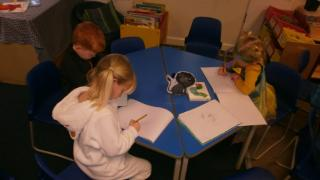 Each child had a turn talking about their book character to the rest of the class